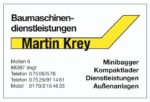 Baumaschinenvermietung-Dienstleistungen
